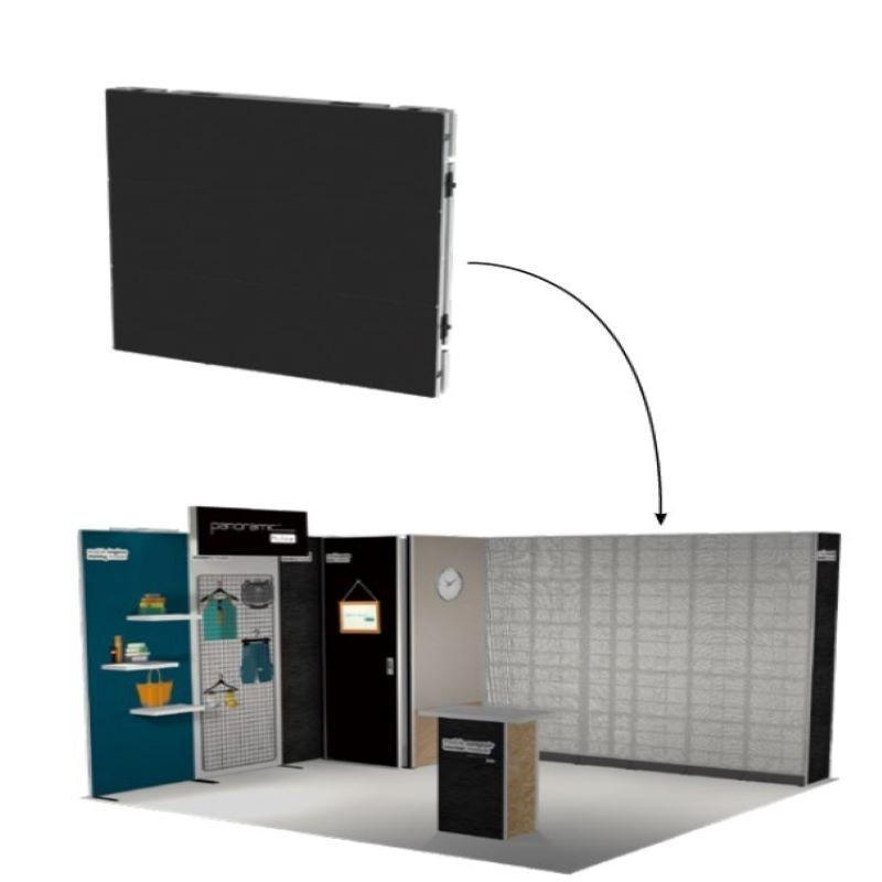 Diseño y construcción de stands-Pantalla de leds- PANOLED
