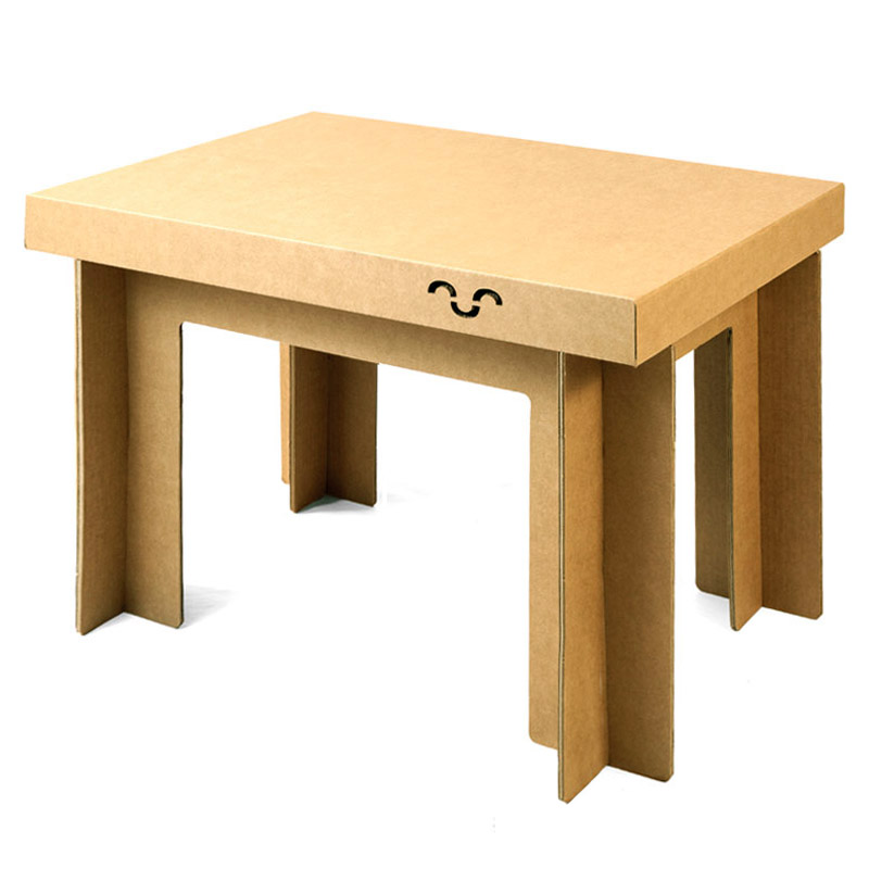 stand cartón mesa
