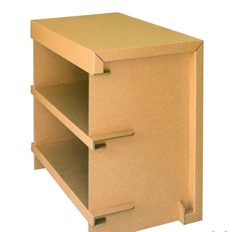 stand cartón estanteria