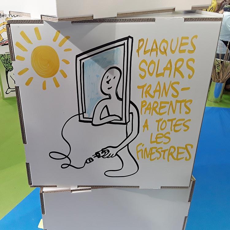 stand cartón dibujar
