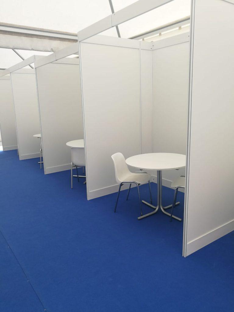 Shel scheme booth meetings